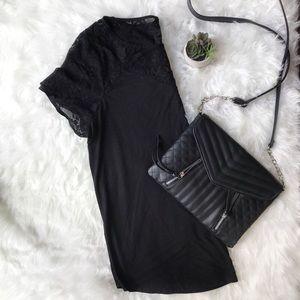Torrid Black Lace Inset Tee